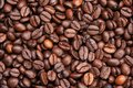 Dark roasted coffee beans texture Royalty Free Stock Image