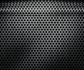 Dark shiny hex metal texture Stock Image