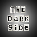 The dark side. Stock Photos