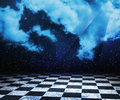 Dark sky abstract stage background Stock Photo