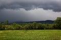Dark sky during a heavy thunderstorm Royalty Free Stock Photo