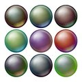 Dark Sphere Set Vector. Opaque Spheres With Shadows. Abstract Dark Ellipse, Ball, Bubble, Button, Badge. Isolated Royalty Free Stock Photo