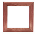 Dark square wooden picture frame Royalty Free Stock Photo