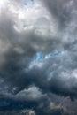 Dark storm clouds in sky