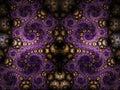 Dark symmetrical fractal swirls