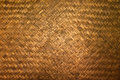 Dark Texture of bamboo handicraft detail , Pattern of Thai style bamboo handcraft texture background Royalty Free Stock Photo