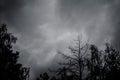 Dark thunderclouds Royalty Free Stock Photo