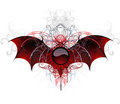 Dark vampire banner on a white background Royalty Free Stock Photo