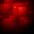 Dark vector background red technology design Royalty Free Stock Photography