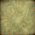 Dark vintage grunge rising sun background Stock Photo