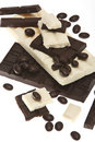 Dark and white chocolate Stock Images