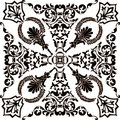 Dark and white symmetric ornament Royalty Free Stock Photos