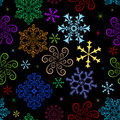Dark  winter seamless pattern Royalty Free Stock Images