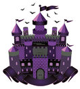 Dark witch castle vector illustration Royalty Free Stock Photography