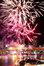 Darling harbour fireworks Royaltyfri Bild