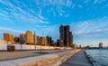 Darling harbour in sydney building harbor before big renovation october Royalty Free Stock Images