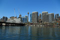 Darling harbour sydney a photograph of some high rise bulidings as seen from in australia is the state capital of new south Stock Photography