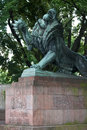 Darmstadt statue of lion in germany Stock Photography