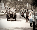 Darraco on Vintage Car Parade Royalty Free Stock Photos