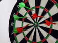 Dart the arrow shots to keep the target Royalty Free Stock Photography