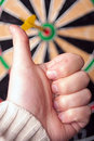 Dart Board Bulls Eye Stock Image