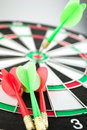 Dart board darts white Royalty Free Stock Images
