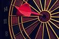 Dart Board On Target Royalty Free Stock Photo