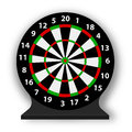 Dart board illustration isolated white Stock Photo