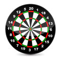 Dart board vector illustration of a Royalty Free Stock Photo