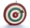 Dart board on white background with bull s eye Royalty Free Stock Image