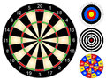 Dart boards board and other target games vector illustration Stock Photography