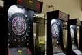 Dart boards in games area Royalty Free Stock Photo