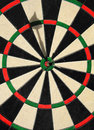 Dart at Bullseye Stock Image