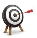 Dart hitting a target darts the center vector eps format Stock Image
