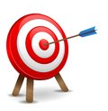 Dart hitting a target this image was made by an illustrator vector eps format Royalty Free Stock Photo