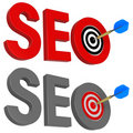 Dart and SEO target. Royalty Free Stock Photos