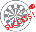 The dart of success Stock Image