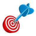 Dart on target Royalty Free Stock Photos