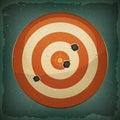 Dart Target With Bullets Shot