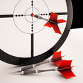 Dart Target Means Focused Successful Aim Royalty Free Stock Photos