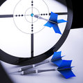 Dart Target Means Perfect Skill Winning Performance Royalty Free Stock Images
