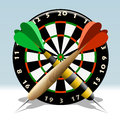 The dartboard Royalty Free Stock Images