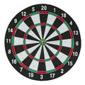 Dartboard with arrow isolated on white Stock Images