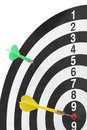 Dartboard bulls eye. Royalty Free Stock Photos