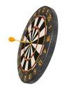 Dartboard with dart in aim Royalty Free Stock Photo