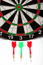 Dartboard and darts Royalty Free Stock Photo