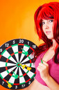 Dartboard Girl 3 Royalty Free Stock Images