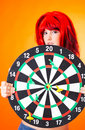Dartboard Girl 5 Royalty Free Stock Image