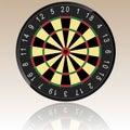 Dartboard Illustration Royalty Free Stock Images