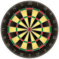 Dartboard isolated vector Royalty Free Stock Photo